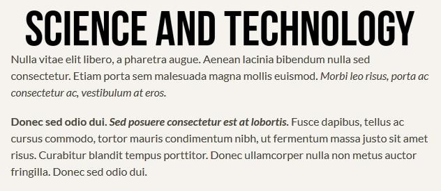 Bebas & Lato Font